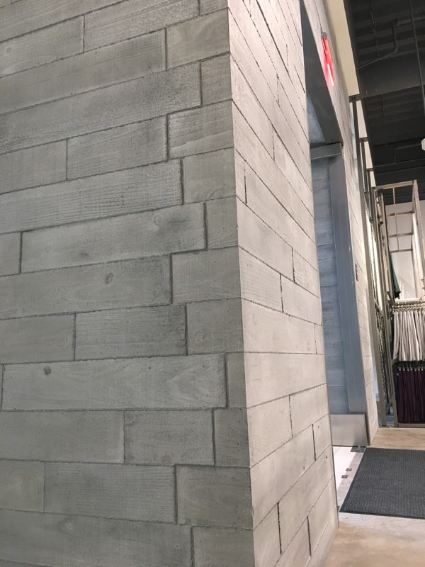 Board Form Concrete Panels For Adidas Retail